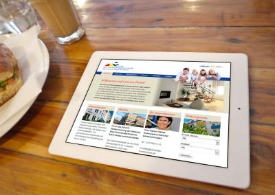 Webdesign Vereinigte Bau- und Siedlungsgenossenschaft Bremerhaven