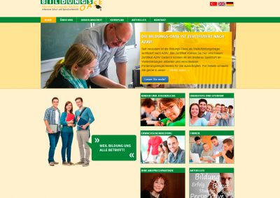 Webdesign Bildungs-Oase