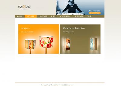 Webdesign eye & buy Webshop
