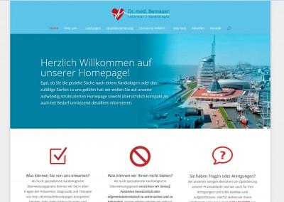 """Webdesign Kardiologische Gemeinschaftspraxis """"Am Neumarkt"""""""
