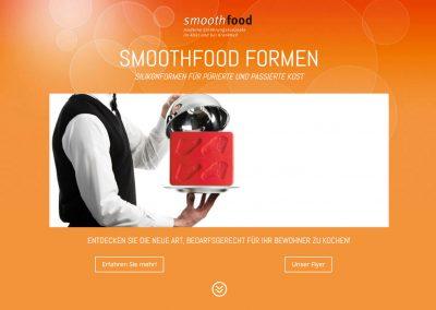 Webdesign Landingpage Biozoon Smoothfood Silikonformen