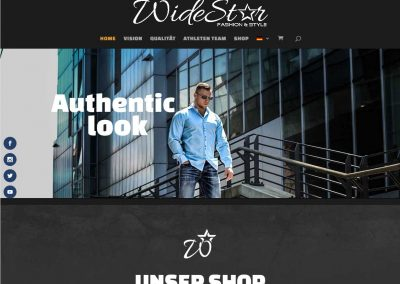 Webdesign Webshop WideStar