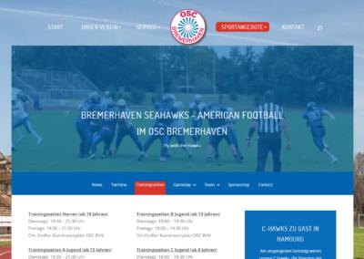 Webdesign OSC Bremerhaven