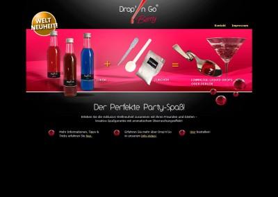 Webdesign Mikrosite Drop'n Go
